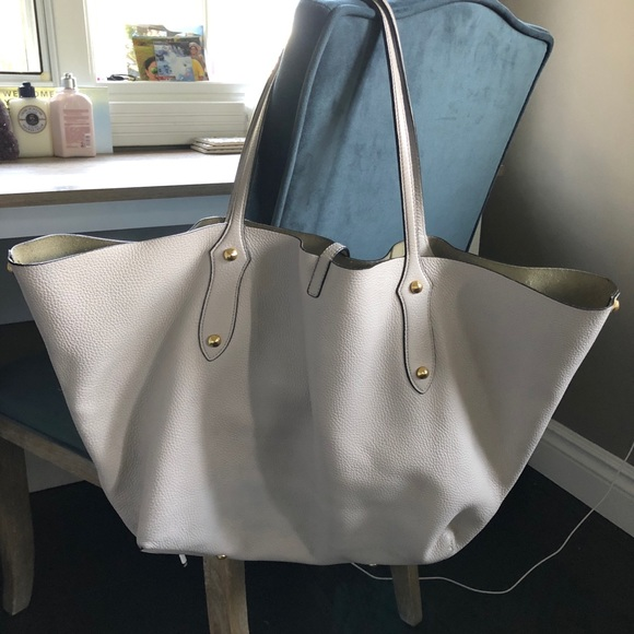 Annabel Ingall Handbags - Annabell Ingall Isabella Large Tote in Bone Gold f295fa8be4e2e